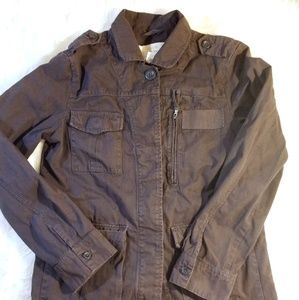 J.Crew Brown Classic Twill Jacket 100% Cotton